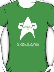 Rule Of Acquisition #16 T-Shirt