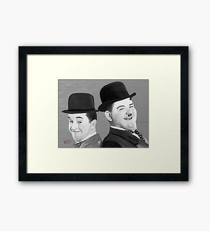 Laurel and Hardy Framed Print