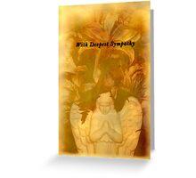 Angel Sympathy Card Greeting Card