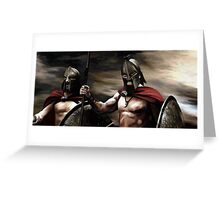 Spartans 2 Greeting Card