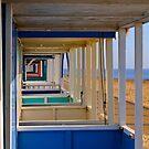 Beach Huts Southwold by Kawka