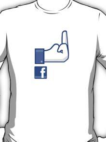 Facebook finger, F*ck Off! T-Shirt