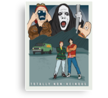 Bill and Ted - Totally Non-heinous Canvas Print