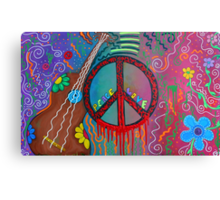 Peace and Love 2 Canvas Print
