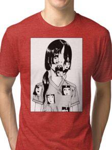 Shintaro Kago Girl Tri-blend T-Shirt