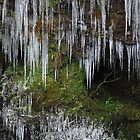 icicles, frozen brecon beacons wales by blakmountphoto