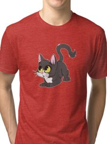 Little black and white cat Tri-blend T-Shirt
