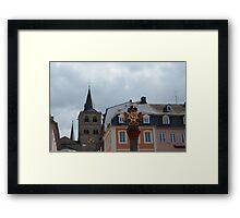 Old Market Cross Trier Framed Print
