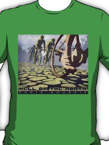 cycling illustration HELL OF THE NORTH retro Paris Roubaix  T-Shirt