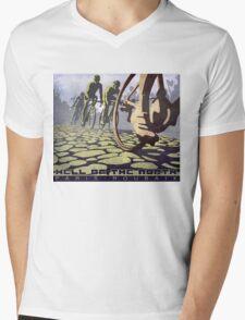 cycling illustration HELL OF THE NORTH retro Paris Roubaix  Mens V-Neck T-Shirt