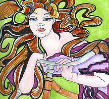 Cycling Goddess by Artbydiavelone