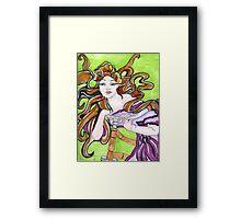 Cycling Goddess Framed Print