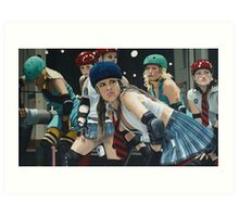 Roller Girls Art Print
