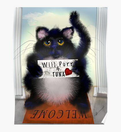 Paid Purr Tuna Poster