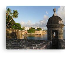 Old San Juan City Walls and Gate Canvas Print