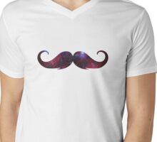 Universe Moustache Mens V-Neck T-Shirt