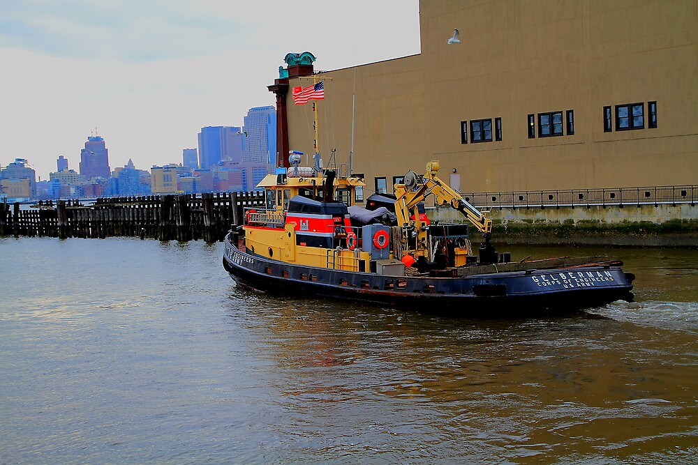 U S Army Corps Of Engneers Tug Boat by pmarella