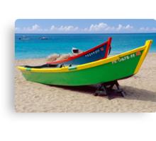 CaribbeaN Fishing Boats Canvas Print