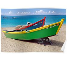 CaribbeaN Fishing Boats Poster