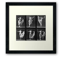 Dancing Woman, plate 187 from 'Animal Locomotion', 1887 Framed Print
