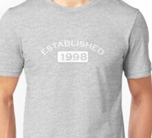 Established 1998 Unisex T-Shirt