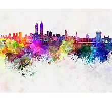 Mumbai skyline in watercolor background Photographic Print