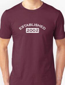 Established 2002 T-Shirt