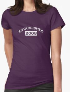 Established 2008 Womens Fitted T-Shirt