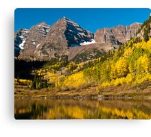 Maroon Bells And Maroon Lake Canvas Print