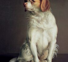 Portrait of a King Charles Spaniel, Boilly, Louis Leopold (1761-1845) by Bridgeman Art Library