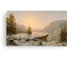 Winter Landscape, 1878  Canvas Print