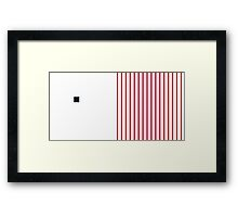 Numbers WHITE+red-1 Framed Print