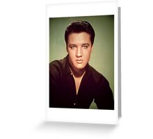 Elvis Presley (photo) Elvis Aaron Presley (1935-77), American singer and actor; also known as 'The King' Greeting Card