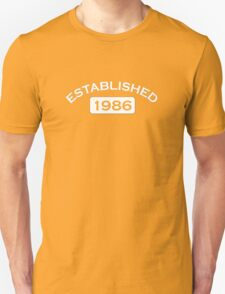 Established 1986 T-Shirt