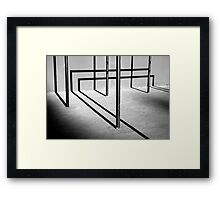 Triad - Conceptual abstract photo Framed Print