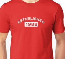 Established 1988 Unisex T-Shirt