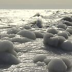 Winter Lakefront Ice I by Rich Fletcher