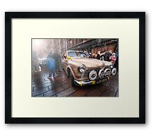 Monte Debutante - 1968 Volvo || Monte Carlo Classic Rally 2013  Framed Print