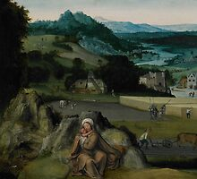 The Rest on the Flight into Egypt (The Miraculous Field of Wheat) c.1518-24  by Bridgeman Art Library