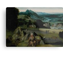 The Rest on the Flight into Egypt (The Miraculous Field of Wheat) c.1518-24  Metal Print