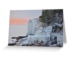 Otter Cliffs Encased In Ice, Acadia Greeting Card