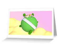 3D King Kai's Planet - Dragon Ball Greeting Card