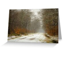Mist and snow Greeting Card