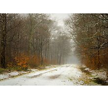 Mist and snow Photographic Print