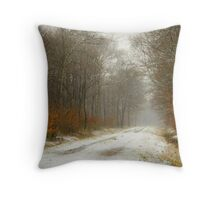 Mist and snow Throw Pillow