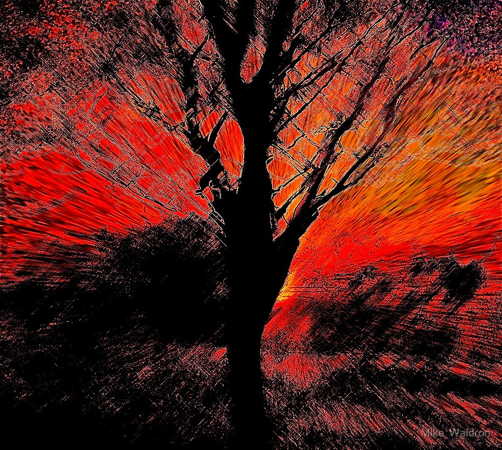 Tree From A Virtual Landscape by Mike  Waldron