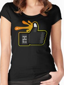 FACEBOOK X GHOSTBUSTERS (GB3 SLIMED) Women's Fitted Scoop T-Shirt
