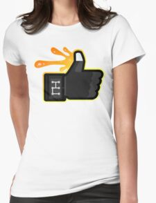 FACEBOOK X GHOSTBUSTERS (GB3 SLIMED) Womens Fitted T-Shirt