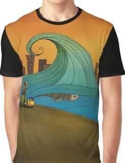 The Sea (from 'The Girl with The Yellow Bag') Graphic T-Shirt