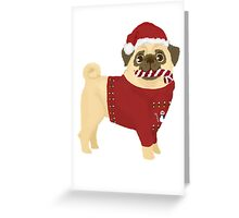 Xmas Pug Greeting Card